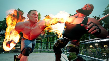 WWE2K BG John Cena vs Braun Strowman