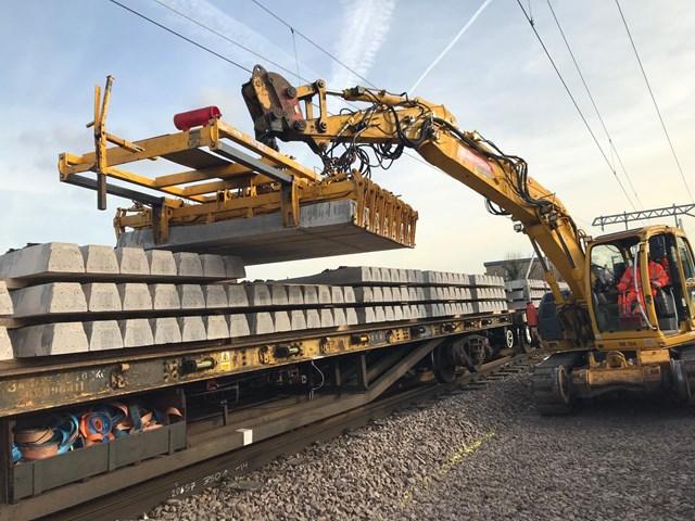 UPDATE: Gospel Oak to Barking line freight derailment (Friday 7 February): Sleepers install Gospel Oak to Barking
