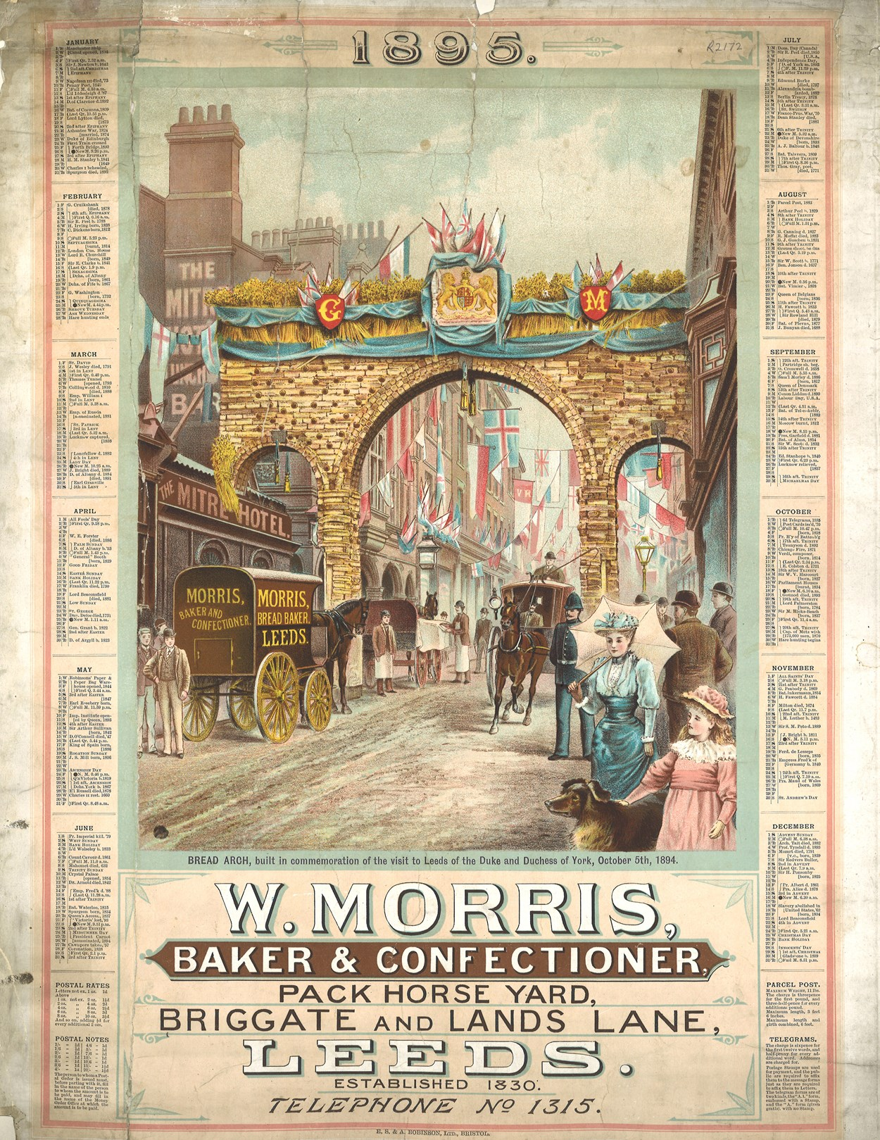 Bread archway. Copyright Leeds Libraries