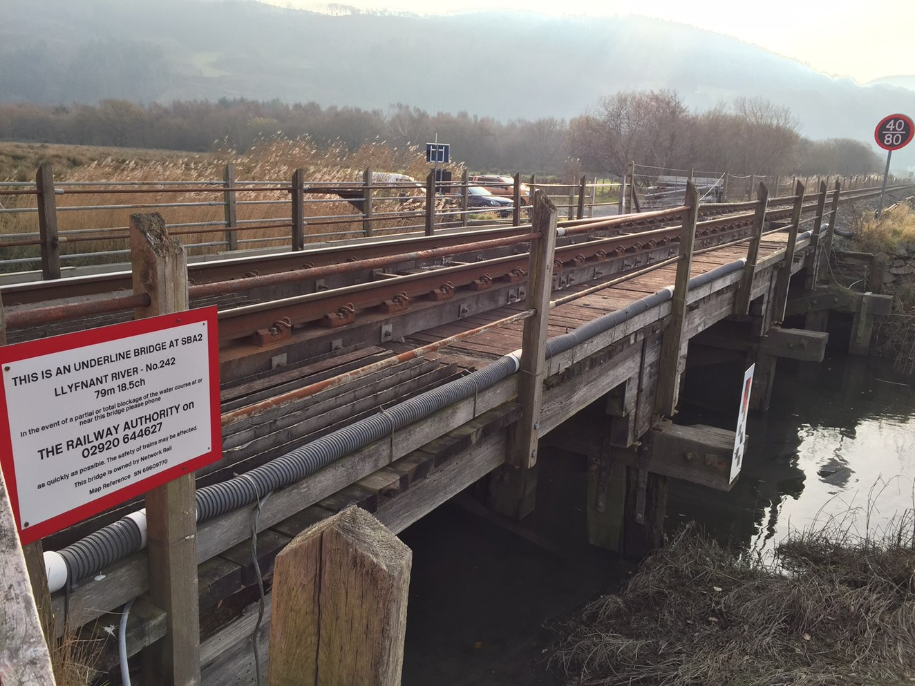 Dovey Junction station to close for four days as work to upgrade the railway continues: Afon Llyfnant bridge