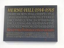 Herne Hill stone memorial