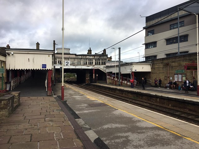 Keighley station platform 2