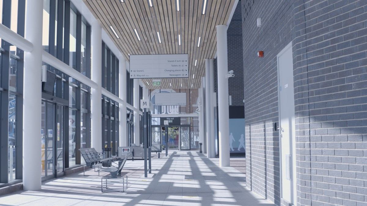 Interior picture of Wigan Bus Station