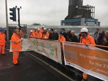Robbie Burns speaks Boundary Road bridge opening