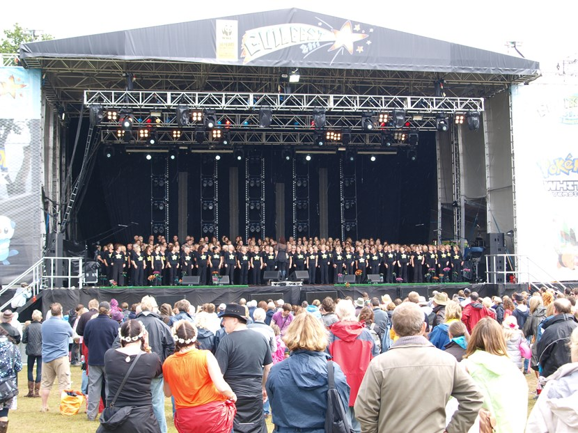 Square's big stage welcomes local musicians and the Rock Choir for live music showcase: rockchoir.jpg