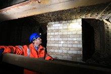 Bermondsey: Greg Thornett, Project Manager, looks at the remains of Southwark Park station, hidden in the catacombs under the railway in Bermondsey