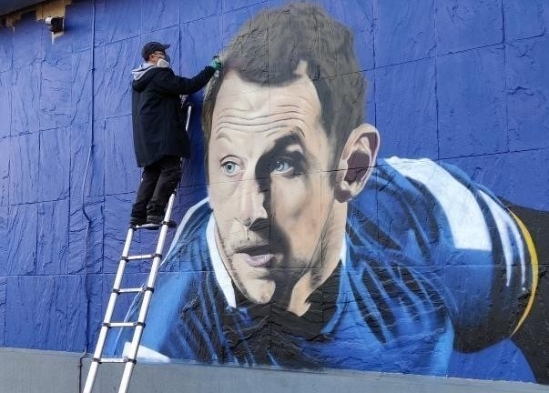 Mural of inspirational Leeds Rhinos legend Rob Burrow nears completion: Rob Burrow-dec20CROP2