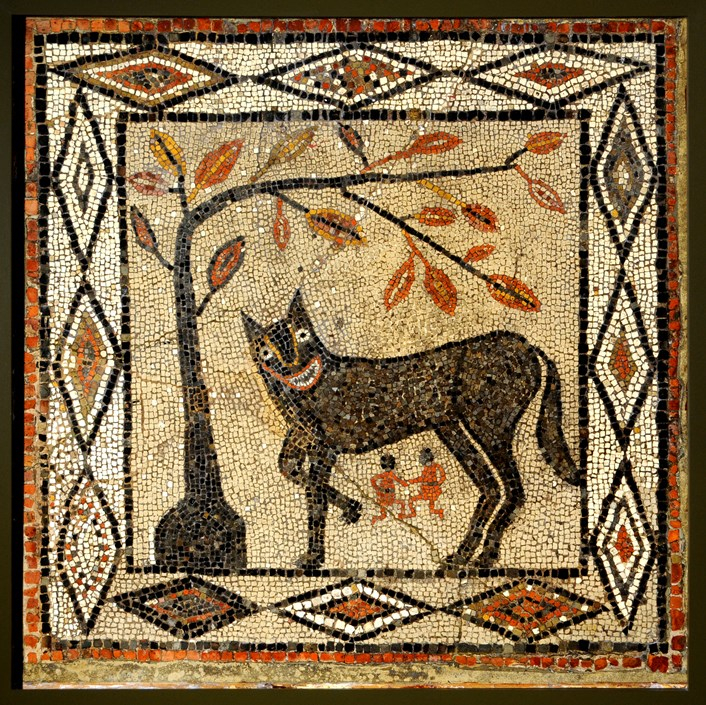 Setting the record straight on legend of the city's wonky wolf: 05 Wolf and Twins mosaic (R R mosaic)