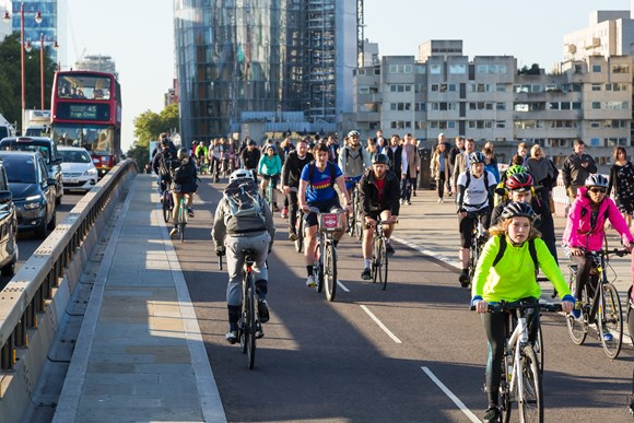 TfL Press Release - World's largest cycling database set to make cycling in the capital easier: TfL Image - Blackfriars