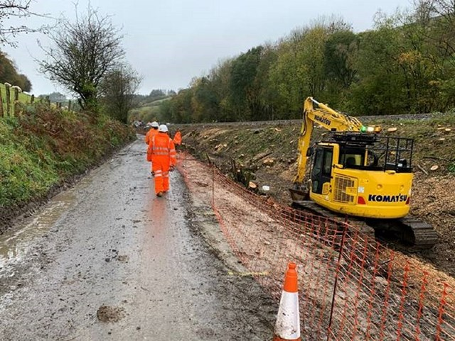 Central section of Heart of Wales line handed back after huge storm recovery effort: HoW line reinstatement 1 resized