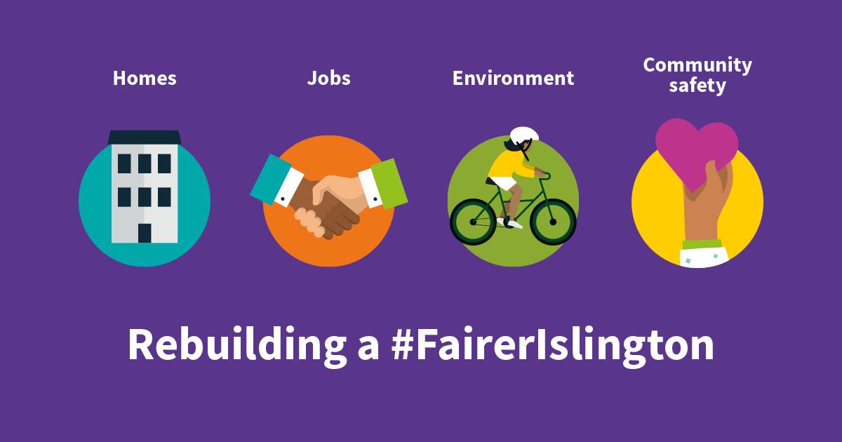 Artwork for 2021/22 Budget proposal - Rebuilding a Fairer Islington