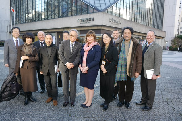 Fiona Hyslop and Toshima Ward Mayor Yukio Takano (centre) with people from Toshima Ward, SDI, and the Japan Scotland