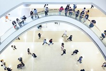 People-in-a-shopping-center-view-from-above-Hong-Kong-China medium