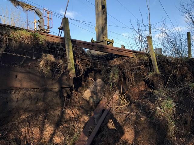 Dutton viaduct landslip March 2020 3