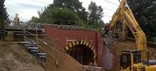 Demolition of the old bridge at Long John Hill