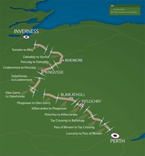 Map-of-the-A9-dualling-route