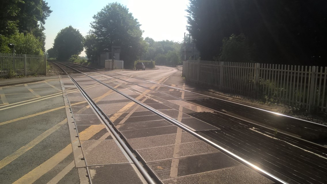 Nantwich residents invited to drop in and find out more about upgrade work to Newcastle Road level crossing: Newcastle Road level crossing-2