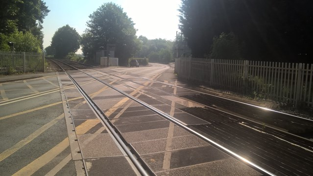 Nantwich residents reminded of upgrade work to Newcastle Road level crossing: Newcastle Road level crossing-2