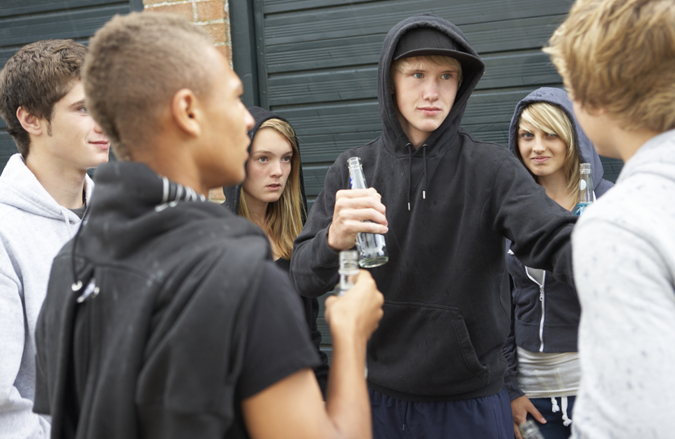 Youths drinking image-2