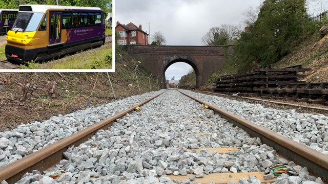 Train cab video shows first run on new Stourbridge Shuttle tracks: Stourbridge shuttle composite