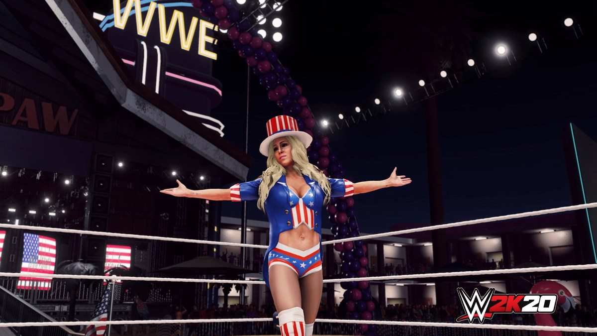 WWE2K20 Originals Southpaw Regional Wrestling Charlotte Flair