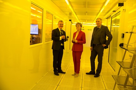Diodes15: (L-R) Diodes Greenock MD Gerry McCarthy, First Minister Nicola Sturgeon and Diodes European President Tim Monaghan