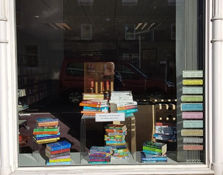 Aberlour library window display
