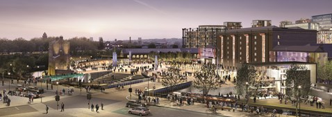 King's Cross renaissance - Granary Square, King's Cross Central