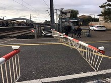 Brimsdown barriers knocked off