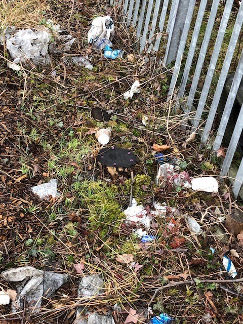 Chesterfield fly-tipping before