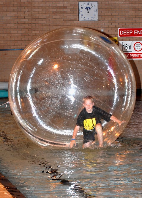 Hamster ball fun at No Messin' Live! in Leeds