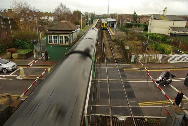 NETWORK RAIL ASKS HAMPDEN PARK 'WOULD IT KILL YOU TO WAIT?': Train passing through Hampden Park LX