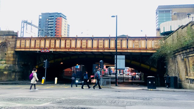 Manchester city centre bridges to be restored to Victorian splendour: Bridges as seen from Victoria street