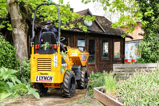 HS2 contractor supports Iver Environment Centre project to restore large wildlife pond: Lynch supports Iver Environment Centre-5
