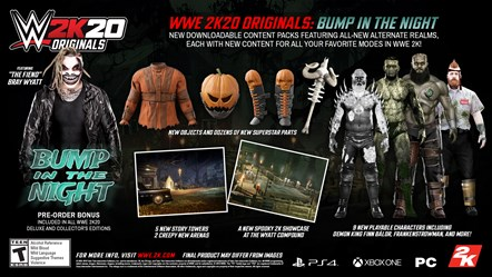 """The Fiend"" Bray Wyatt Headlines First WWE® 2K20 Originals Pack And Pre-Order Bonus: WWE2K20 Originals Bump in the Night"