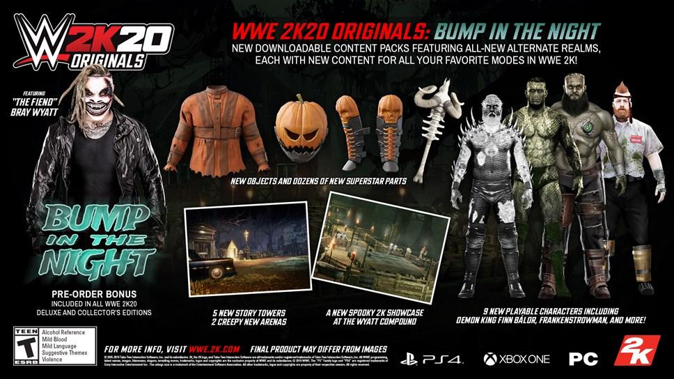 """The Fiend"" Bray Wyatt Headlines First WWE 2K20 Originals Pack And Pre-Order Bonus: WWE2K20 Originals Bump in the Night"