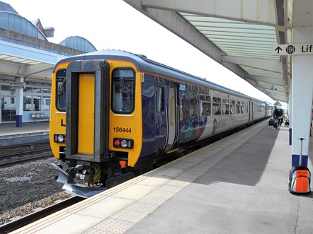 Northern introduces penalty fares on several new routes: 156444 at Middlesbrough (Credit - David Sherrington)