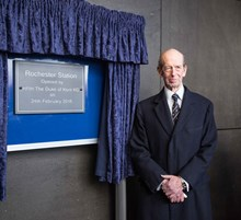 HRH The Duke of Kent with the commemorative plaque