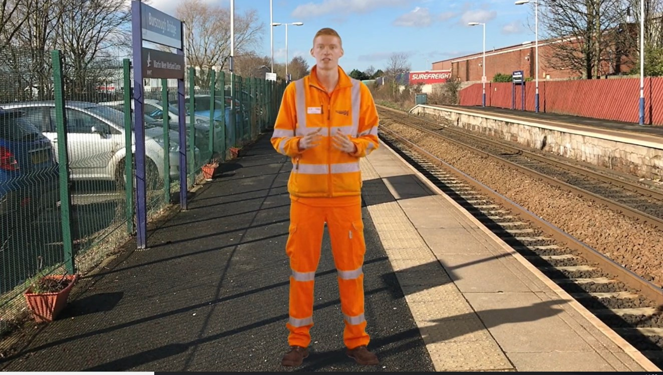 Students from London to Carlisle learn how to stay safe on the railway: Nick Jordan LNW community safety manager