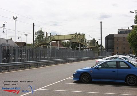 Downham footbridge - improved design (view from car park)