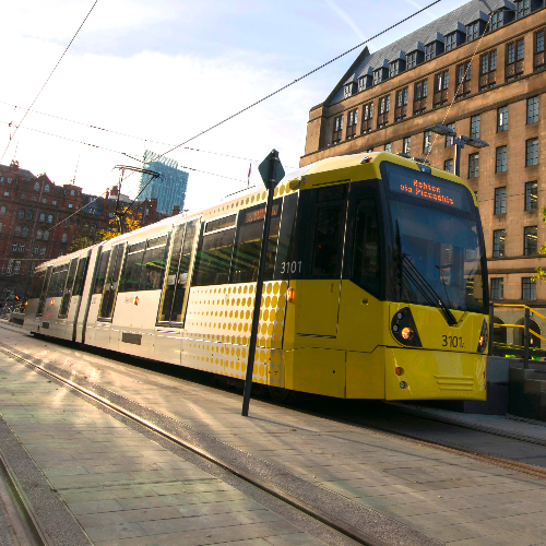 Manchester city centre trams