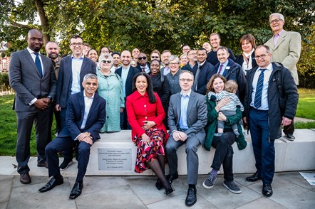 Major work to transform Highbury Corner is complete: The Mayor of London, Sadiq Khan, joins Cllr Claudia Webbe, Islington Council's executive member for environment and transport, and Cllr Richard Watts, leader of Islington Council (L-R front row) to officially launch the transformation of Highbury Corner with local residents, campaigners, councillors and project team members