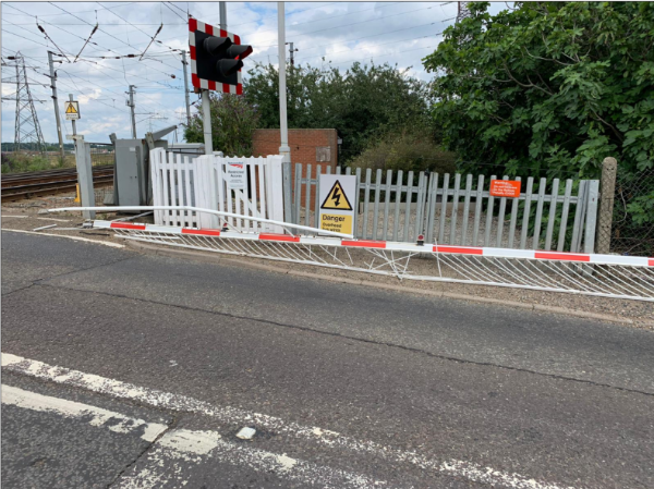 Disruption to rail services and road traffic after barriers are hit at Manningtree level crossing: Manningtree LX