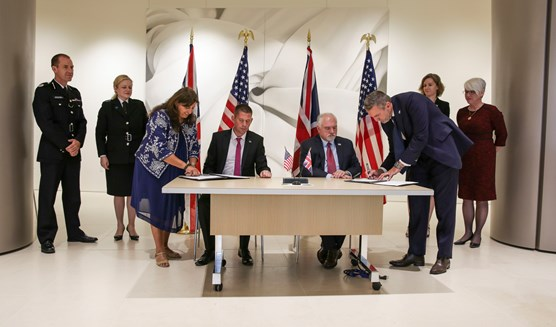 UK and US law enforcement sign an intelligence sharing agreement to tackle female genital mutilation: FGM Signing