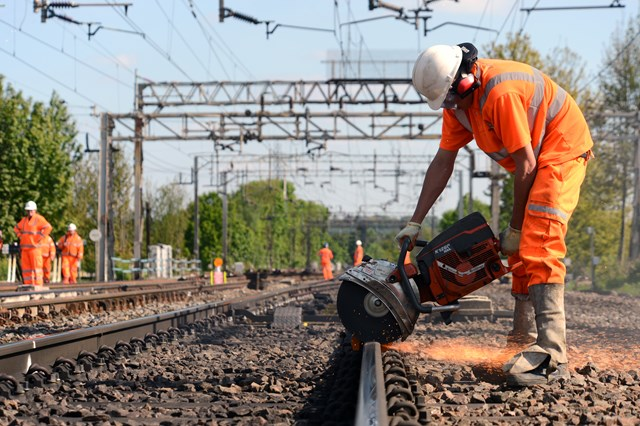 Improvement work on the railway