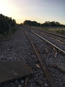 Damaged tracks at Ely