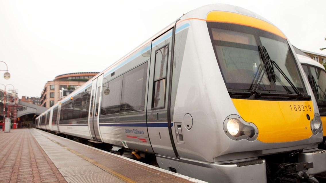 Railway improvements mean better journeys for Chiltern passengers: Chiltern Railways stock image