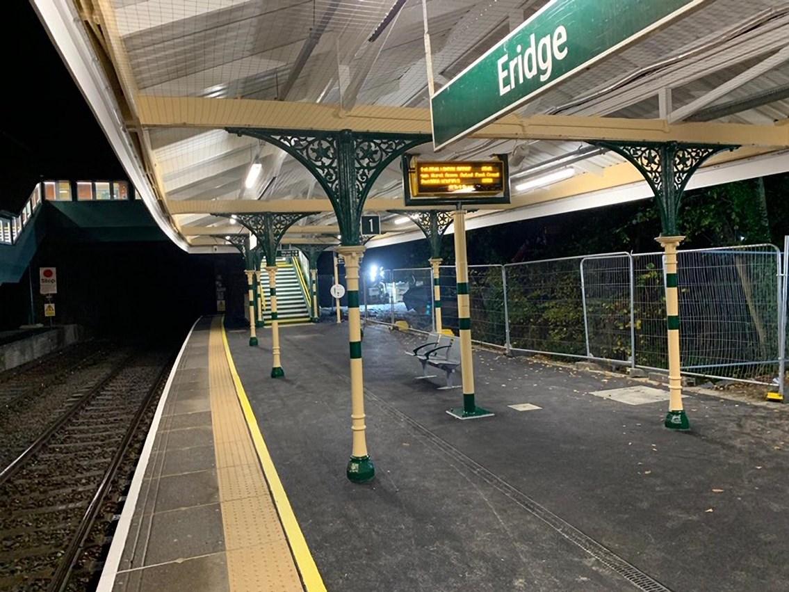 £500k revamp at Eridge station to improve passengers' journeys: Platform at Eridge station
