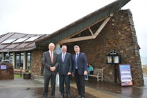 Tourism Minister visits East Lothian: L-R: David Windmill, Chairman, Scottish Seabird Centre , Tourism Minister Fergus Ewing, Tom Brock, Chief Executive, Scottish Seabird Centre