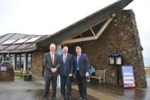 Tourism Minister visits East Lothian: L-R: David Windmill, Chairman, Scottish Seabird Centre, Tourism Minister Fergus Ewing,Tom Brock, Chief Executive, Scottish Seabird Centre